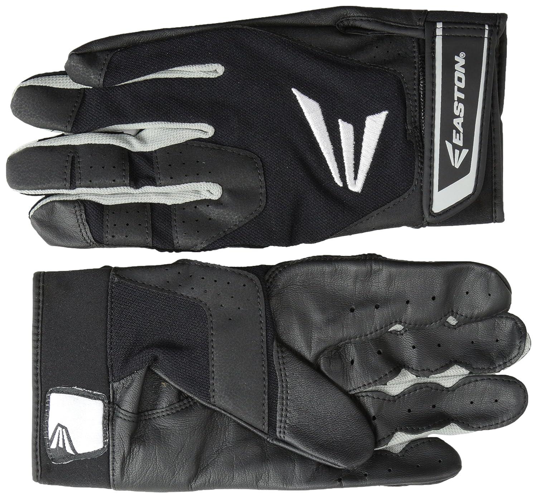 Black leather batting gloves - Easton Hs3 Batting Gloves