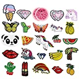 Bright Creations Iron on Patches (50 Count), Assorted Designs