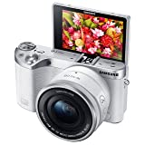 Samsung NX500 28 MP Wireless Smart Mirrorless Digital Camera with 16-50mm Power Zoom Lens (White) (Color: White)