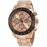 Invicta Men's 10938 Speedway Automatic Chronograph Rose Dial Watch (Color: red)