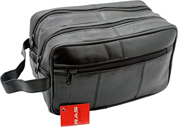 Ras Wallets Genuine Leather Travel Overnight Wash Gym Toiletry