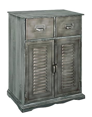 HAKU Möbel 27963 Kommode, 30 x 50 x 72 cm, gekälkt / kupfer antik