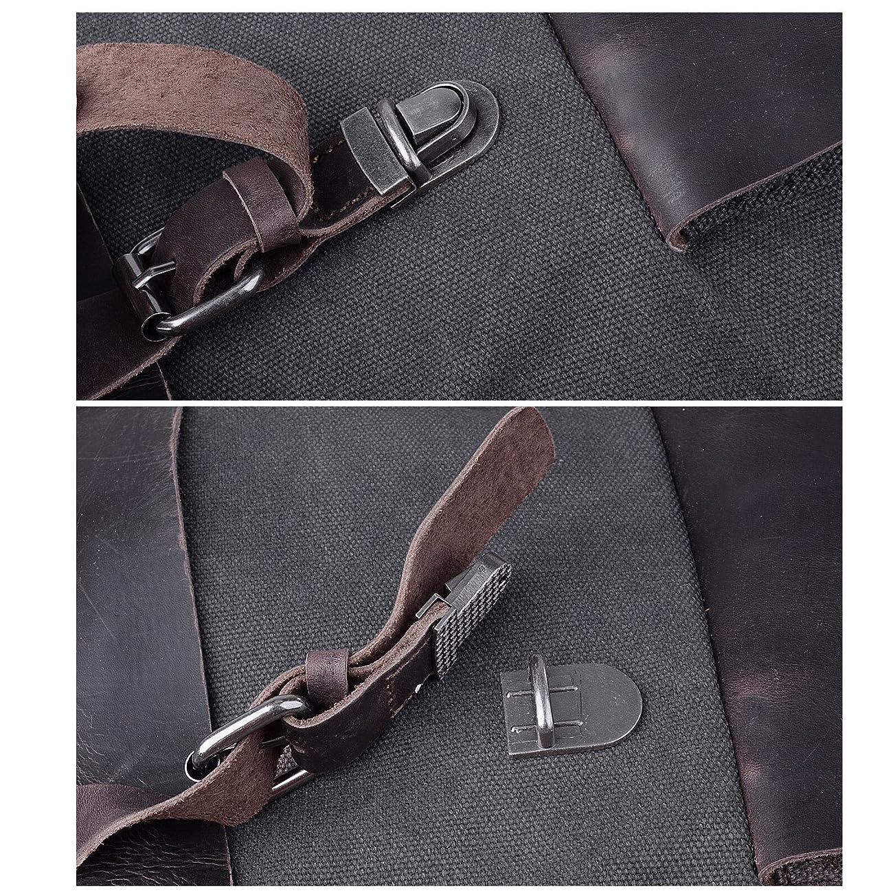 Jack&Chris Vintage Canvas Leather School Backpack Rucksack Bag Daypack,MC2166 4