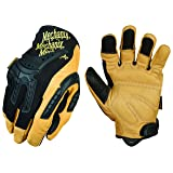 Mechanix Wear - CG Leather Heavy Duty Gloves (Large, Brown/Black) (Color: Black, Tamaño: Large)
