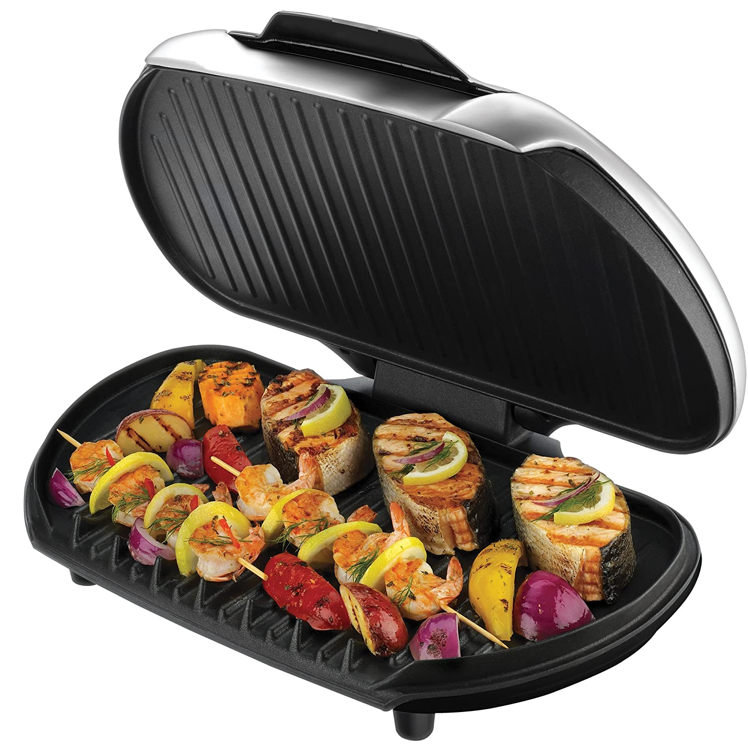 product description the george foreman grill prepares healthy reduced ...