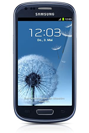 Samsung Galaxy S3 mini NFC Smartphone débloqué 4 pouces 8 GB Android 4.1 Jelly Bean Bleu (import Europe)