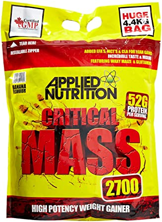 Applied Nutrition Critical Mass Banana 4.4kg, 1er Pack (1 x 4.4 kg)