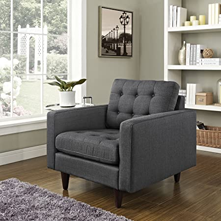 Empress Upholstered Armchair, Gray