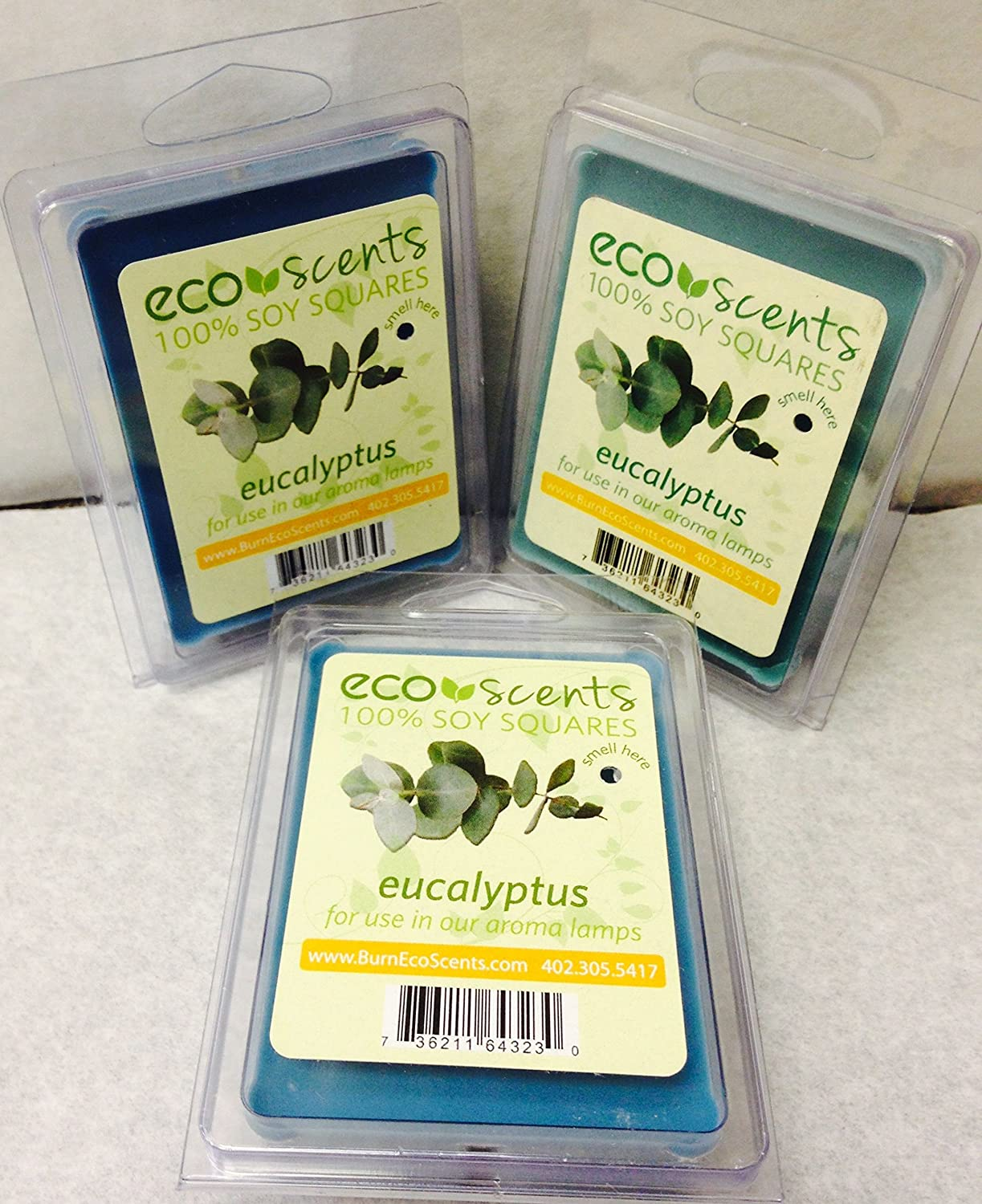 EcoScents 100% All Natural Soy Wax Melts - Eucalyptus 3 Pack парафин oneball x wax 5 pack assorted