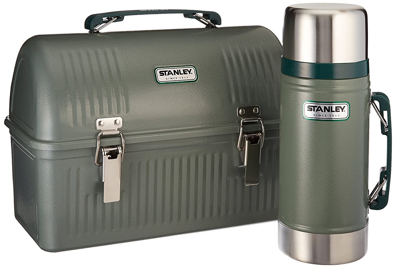 Stanley Classic Lunch Box and Classic Vacuum Food Jar Combo, Hammer Tone Green 0