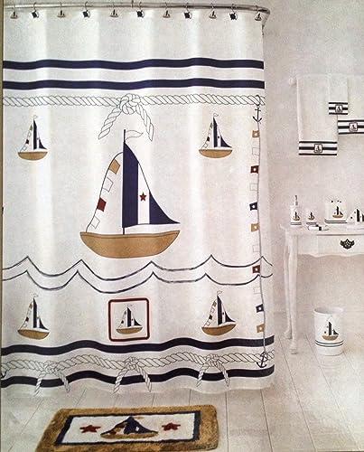 Nautical Bathroom Curtains: Nautical Shower Curtain Shop