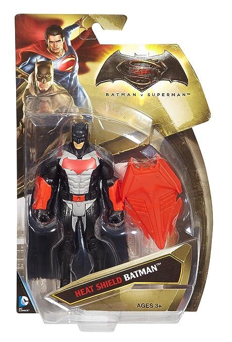 Mattel – Batman V Superman – DJG35 – Batman avec Bouclier Pare-Feu – Figurine 15 cm