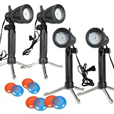 Slow Dolphin Photography Continuous LED Portable Light Lamp for Table Top Photo Studio with Color Filters-4 Sets
