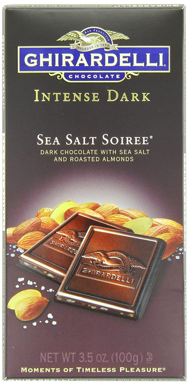 цены на Ghirardelli Chocolate Intense Dark Bar, Sea Salt Soiree, 3.5 oz., 6 Count в интернет-магазинах