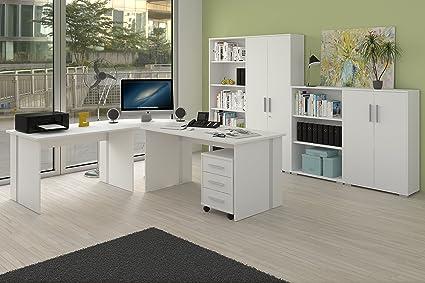 Komplettes Arbeitszimmer Buro Möbel Set in Weiss