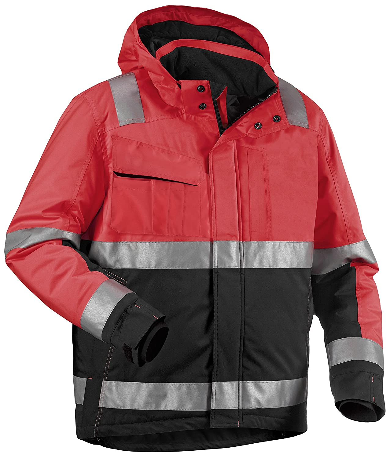 Blakläder High Vis Winter Bundjacke Kl. 3 High Vis Rot/Schwarz, 4870 1977 5599, Gr. 4XL