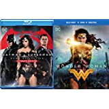 DC Super Hero Wonder Woman (DVD + Blu-ray + Digital) & Batman v Superman: Dawn of Justice (Ultimate Edition Extended Cut) Cinematic Universe 2-Movie Bundle Double Feature Set