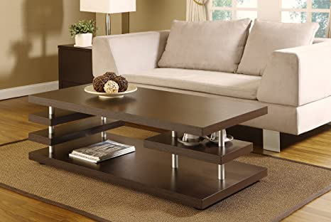 Kerry Multi-Level Coffee Table, Cappuccino