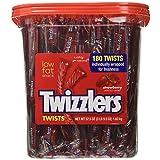 Twizzlers Strawberry Candy Twists - 180 Pcs, 3LB 9.5 OZ (Tamaño: TUB - 180ct)