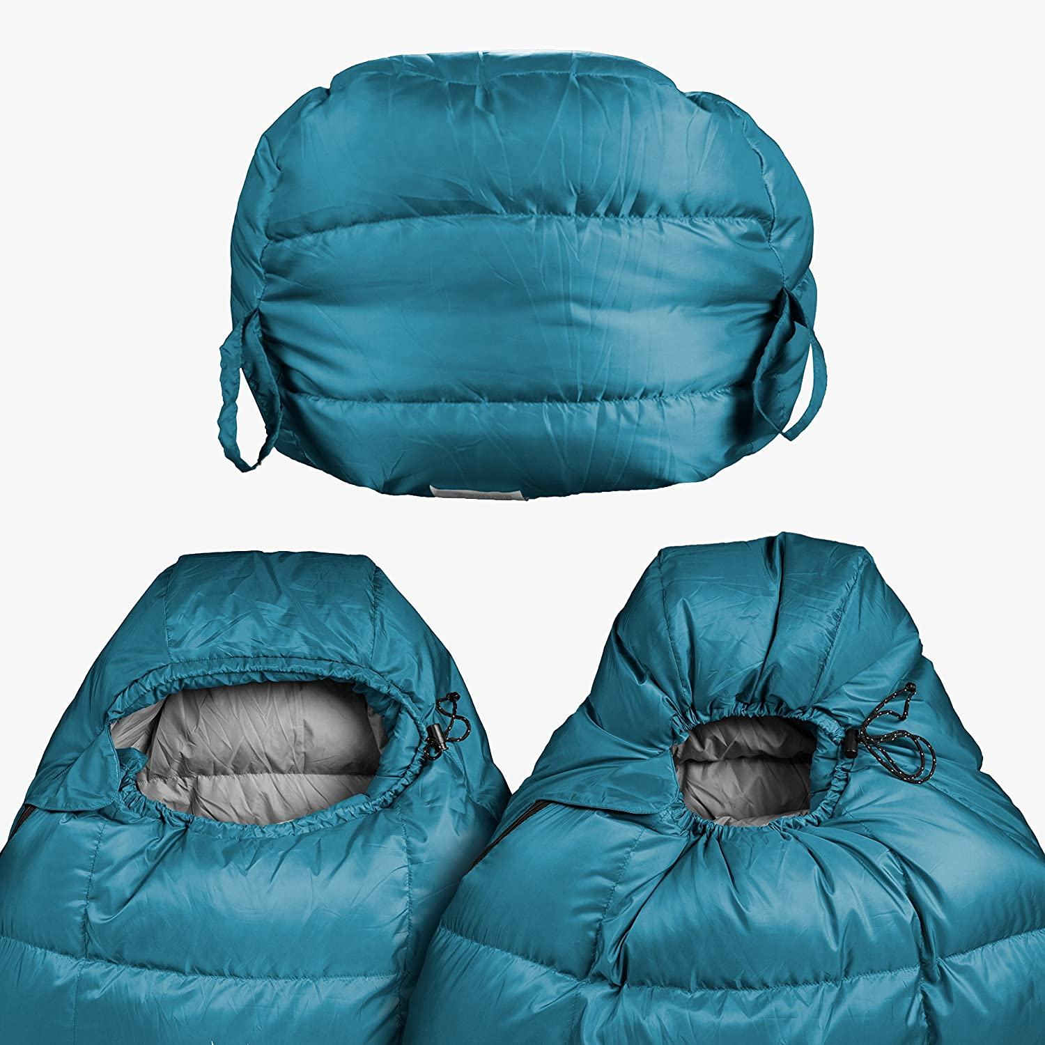Outdoor Vitals Summit 20°F Down Sleeping Bag, 800 Fill Power, 3 Season, Mummy, Ultralight, Camping, Hiking