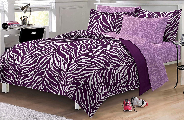My Room Zebra Purple Ultra Soft Microfiber Comforter Sheet