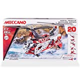 Erector by Meccano, Aerial Rescue 20 Flight Model Building Set, 406 Pieces, For Ages 8 and up, STEM Construction Education Toy