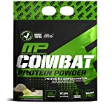 MusclePharm Combat Protein Powder - Essential blend of Whey, Isolate, Casein and Egg Protein with BCAA's and Glutamine for Recovery, Vanilla, 10 Pound, 125 Servings (Color: White, Tamaño: 10 lb.)