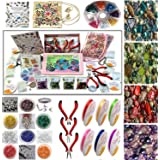 Adults Deluxe Jewelry Making Beads Mix Pliers Findings Starter Kit Gift Set