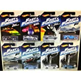 New 1:64 MATTEL FAST & FURIOUS COLLECTION - FAST & FURIOUS ASSORTMENT Diecast Model Car Set of 8 Cars By HotWheels