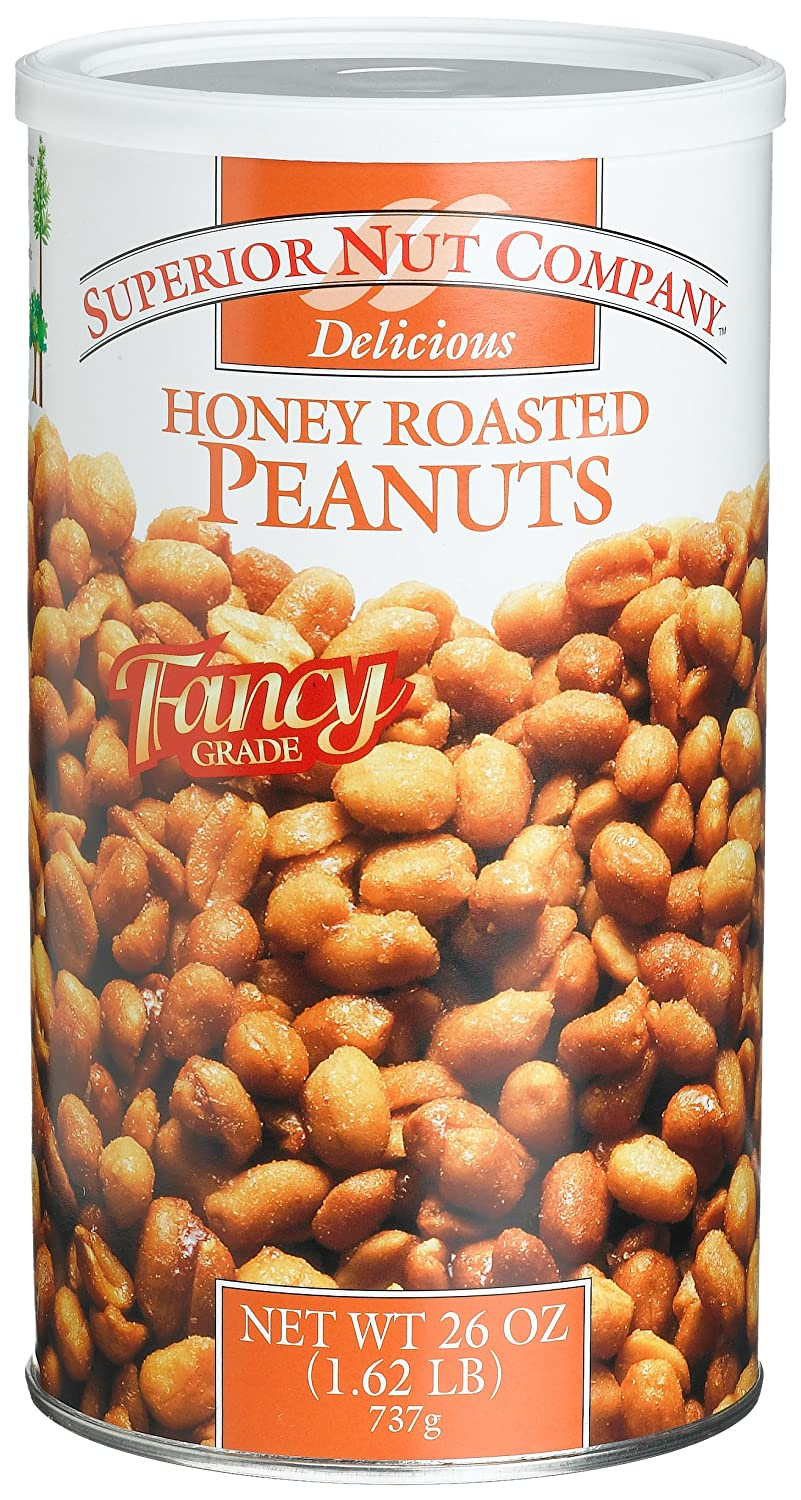 Superior Nut Fancy Honey Roasted Peanuts, 26-Ounce Canisters (Pack of 6) renew avalon organics vitamin c hydrating cleansing milk 8 5 ounce bottle pack of 6