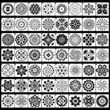 56 Pack Mandala Dot Painting Templates Stencils Perfect for DIY Rock Painting Art Projects (3.6x3.6 inch)