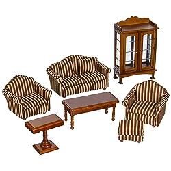 Melissa & Doug Deluxe Doll-House Furniture- Living Room Set