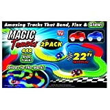 Ontel Magic Tracks Race Car Set (2 Pack), Multi, 22' (Color: Multi, Tamaño: 22')