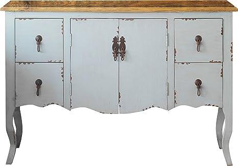Cassettiera legno grigio vassoio Olmo naturale 2cassetti 2ante piedi galbés–betaniella