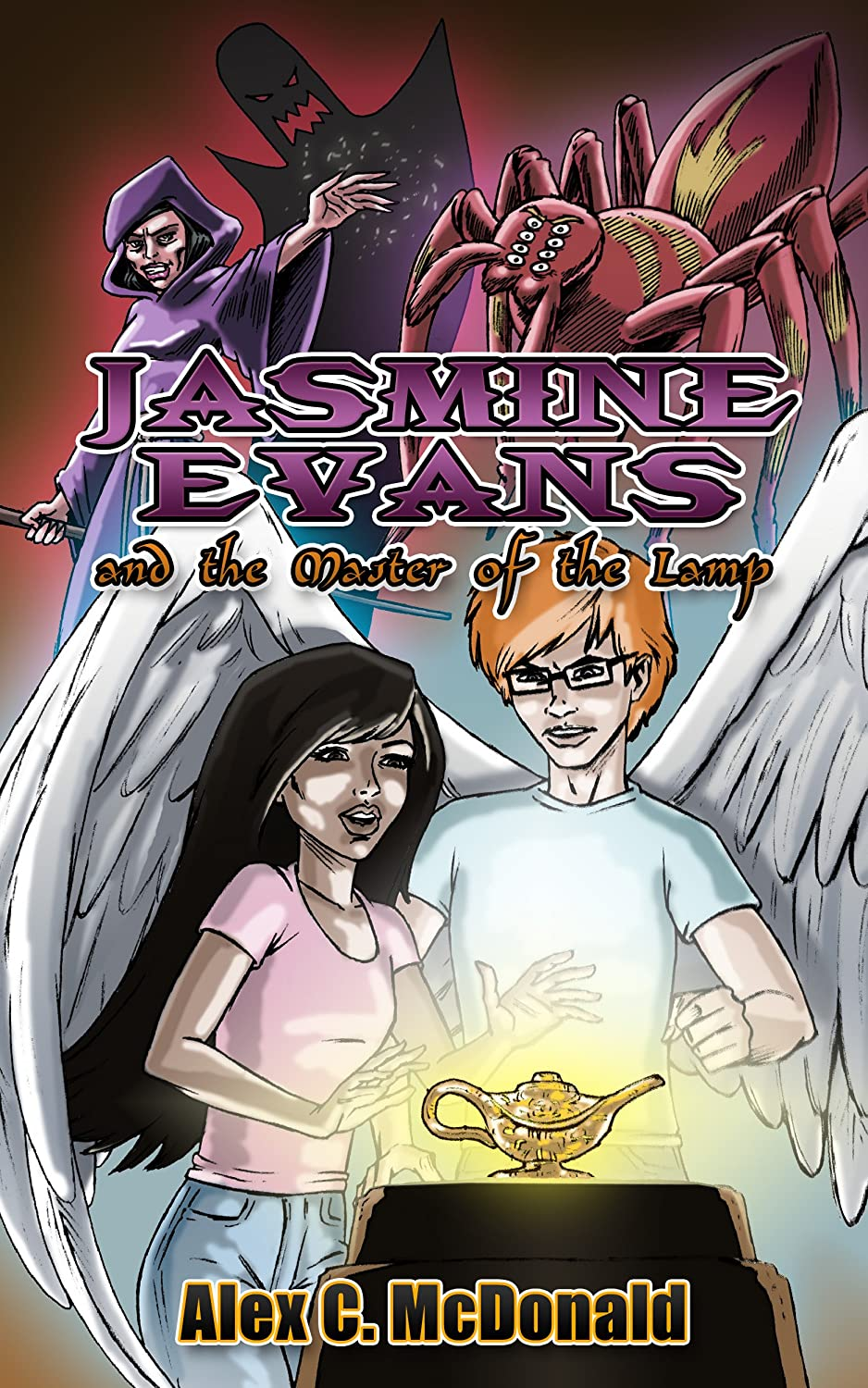 Jasmine Evans and the Master of the Lamp: A genie magic book by Alex C. McDonald