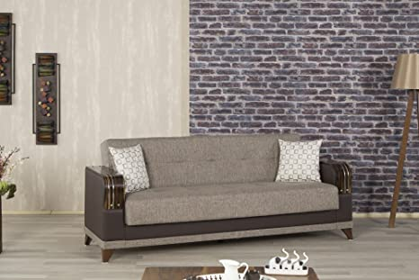 Almira Sofa Bed | Comet Brown Fabric