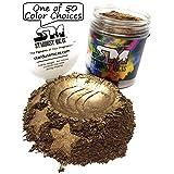 Stardust Micas Metallic Mica Pigment Powder Cosmetic Grade for Soap Making, Epoxy Resin, Makeup, Coloring Slime, Bright True Colors Stable Mica Colorant Brown Sugar (Color: Brown Sugar, Tamaño: 72 Gram Jar)