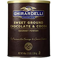 Ghirardelli Chocolate Sweet Ground Chocolate & Cocoa Beverage Mix 48-Ounce Canister