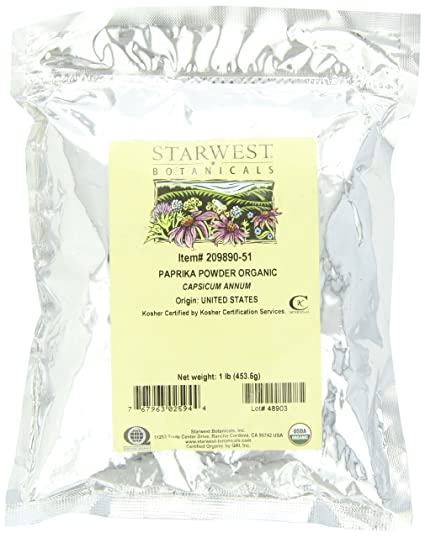 Отзывы Starwest Botanicals Organic Paprika Powder