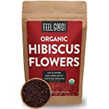 Organic Hibiscus Flowers - Cut & Sifted - 8oz Resealable Bag - 100% Raw From Egypt - by Feel Good Organics (Tamaño: 8 Ounce (1/2 Pound))
