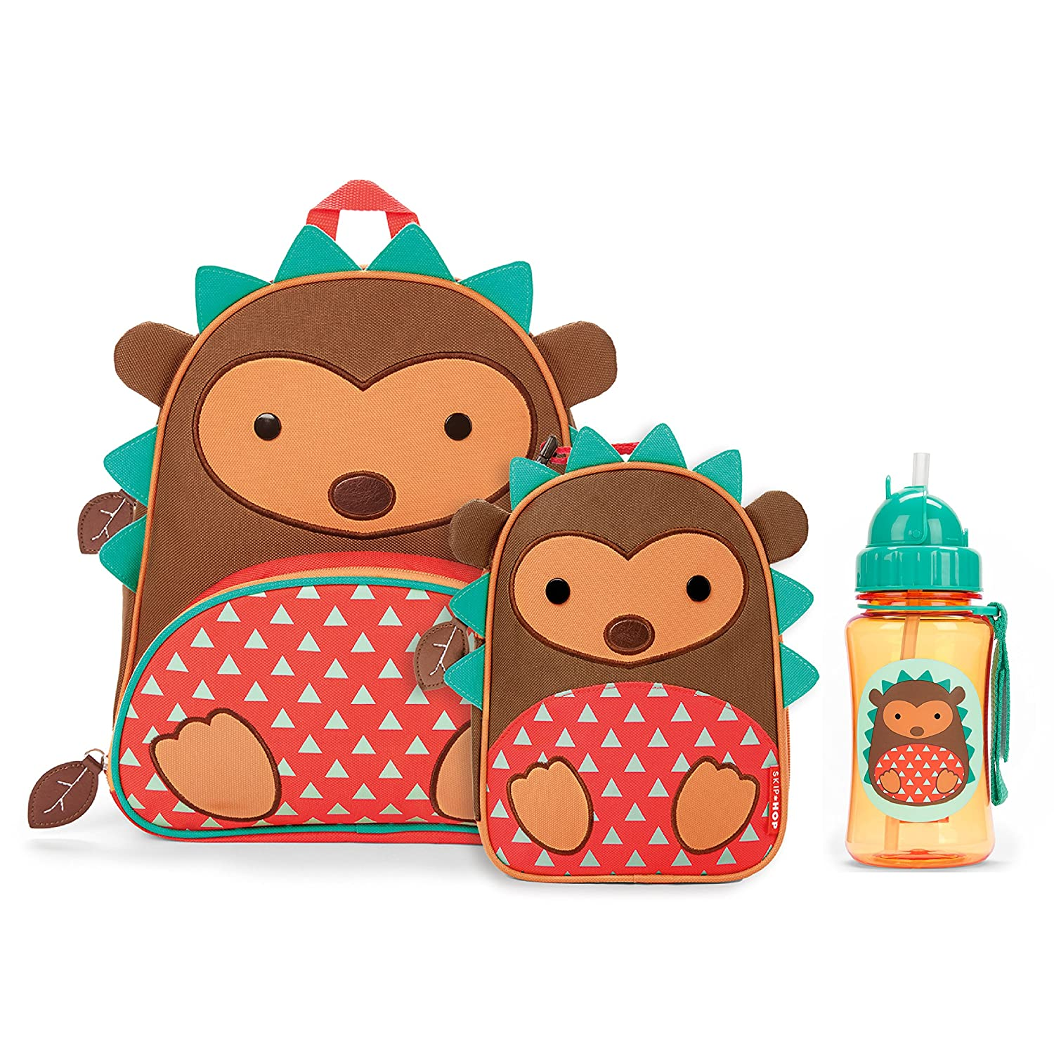 Skip Hop Zoo Backpack, Lunchie, and Bottle Set, Hedgehog