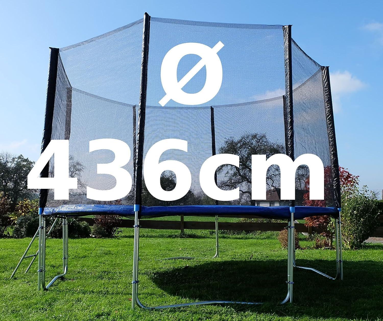 Outdoor Gartentrampolin Trampolin XL – 436cm komplett inkl. Sicherheitsnetz und Leiter TÜV geprüft von AS-S günstig kaufen