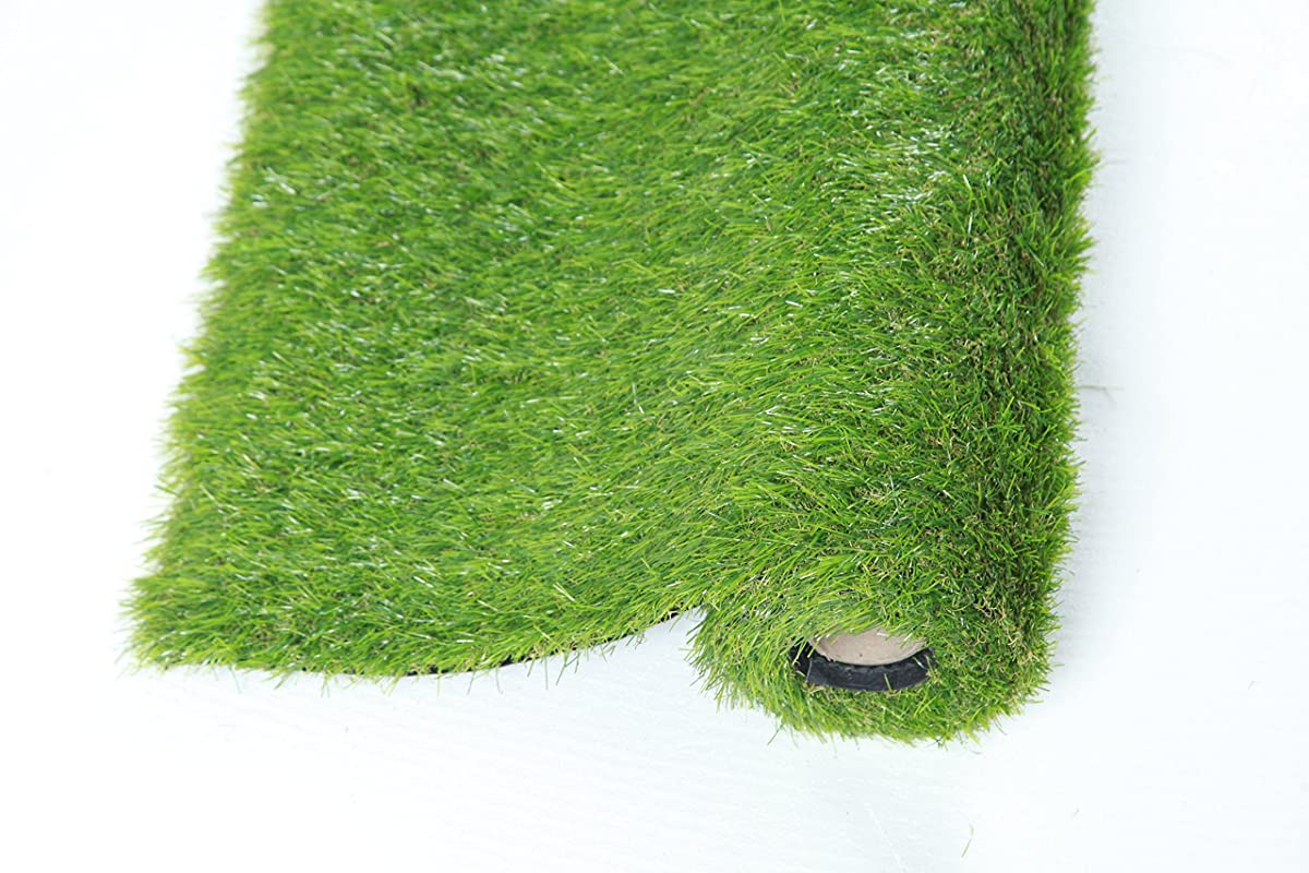QYH Artificial Grass Turf Lawn indoor/outdoor 30mm Pile Height Fake Grass Pet Dog Area Natural & Realistic Looking Garden Lawn (3.3x5)