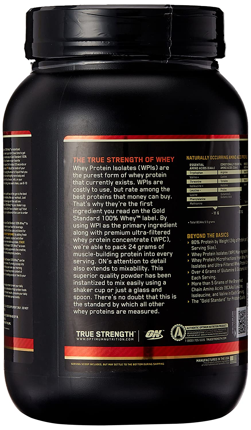 ON Whey Gold Standard - 2 lb Strawberry Banana