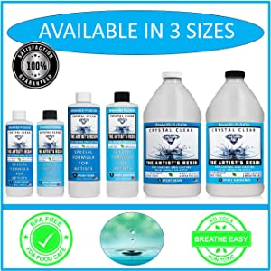 Crystal Clear- Art Resin Epoxy - The Artist's Resin for Coating