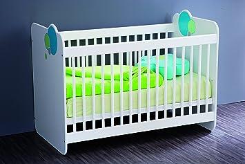 demeyere 402233 bulles lit barreaux panneau de particules mdf particules mdf blanc. Black Bedroom Furniture Sets. Home Design Ideas