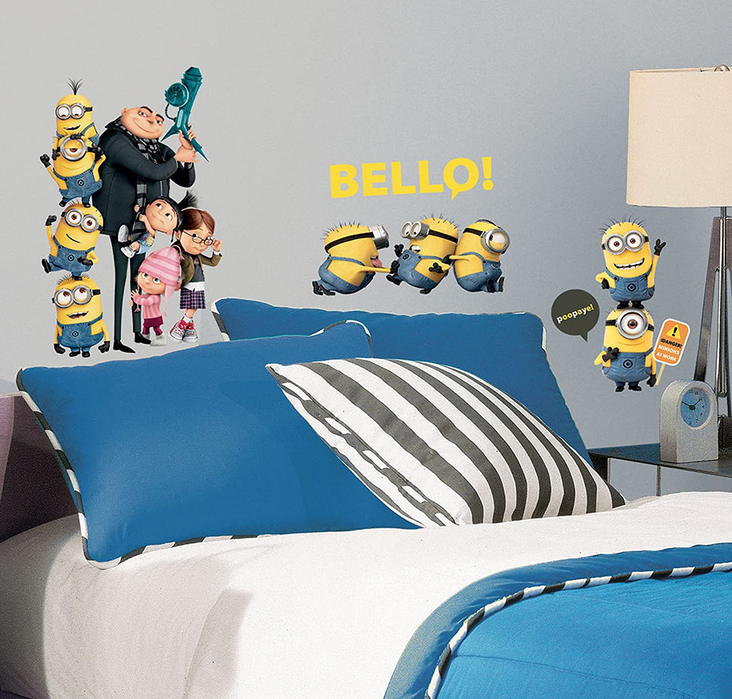 Despicable Me 2 Hello Minions Wall Decals