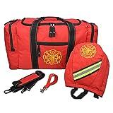 Lightning X Firefighter Turnout Gear Package - Gear Bag, SCBA Mask Bag, Fire Glove Strap, Shoulder Strap (Red) (Color: Red)