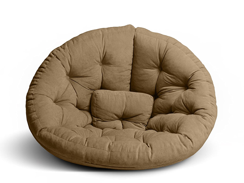 GARDENho.me Magic Seat OCTOPUS Strandgut07 Sitzmuschel, Sitzsack, Indoor, Velour, XXL, Braun, ca. 215 cm online bestellen