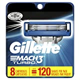 Mach3 Gillette Turbo Men's Razor Blade Refills, 8 Count (Packaging May Vary), Mens Razors / Blades